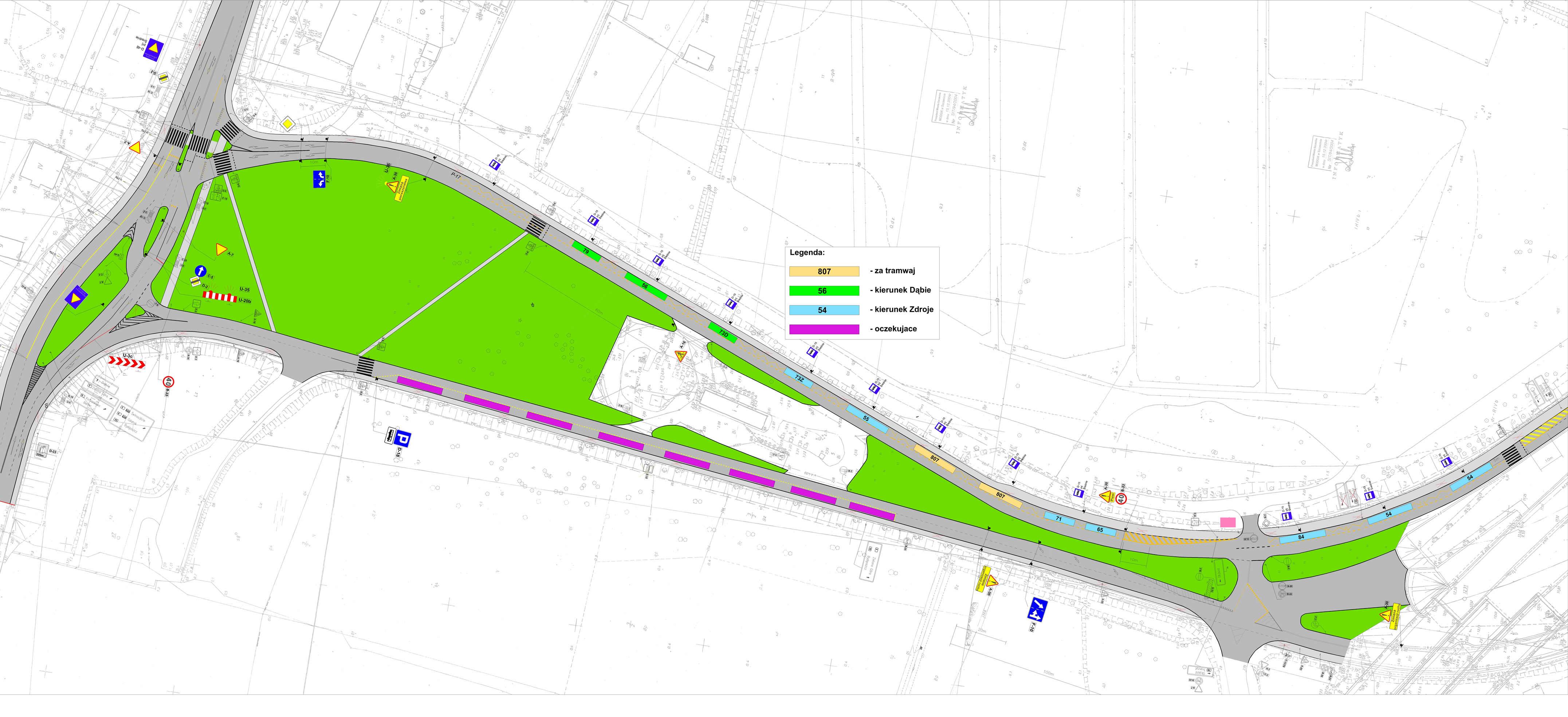 Mapa nowych przystanków - ZDiTM