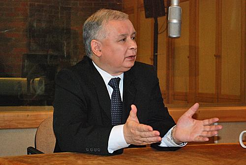 Jarosław Kaczyński. fot. Grzegorz Kaźmierczak PRS