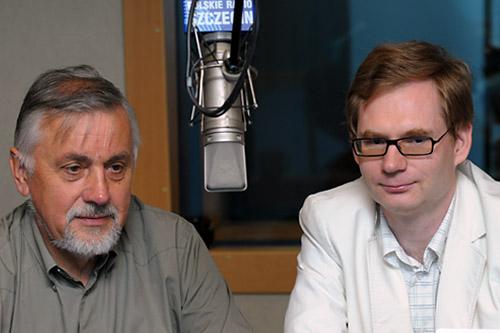 Marek Tałasiewicz i dr Krzysztof Kowalczyk. Fot. Łukasz Szełemej [PR Szczecin]