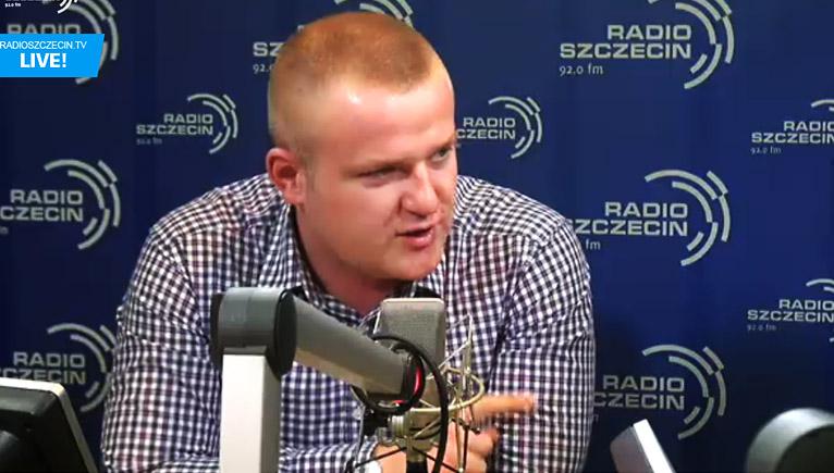 Szymon Zieliński. Fot. radioszczecin.tv