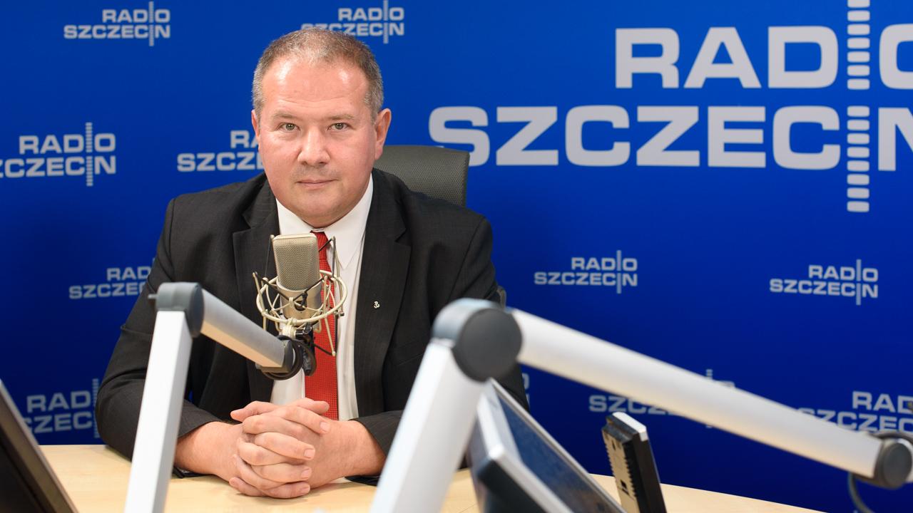 """Leszek Dobrzyński był gościem audycji """"Rozmowy pod Krawatem"""". Fot. Konrad Nowak [Radio Szczecin/Archiwum]"""