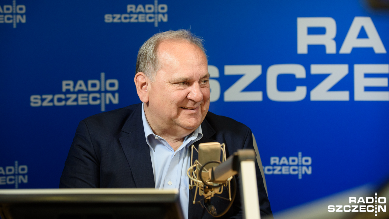 Prezes Pogoni Szczecin, Jarosław Mroczek. Fot. Konrad Nowak [Radio Szczecin]