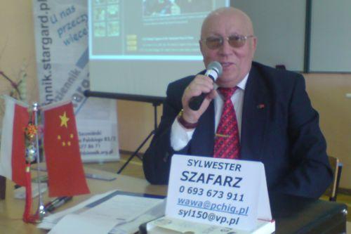 Prezes Polsko - Chińskiej Izby Gospodarczej - dr Sylwester Szafarz. [Fot. RuM].