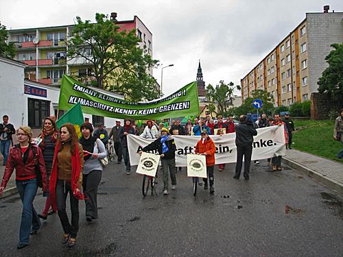 Demonstracja Zielonych z Polski i Niemiec w Gryfinie. Fot. K.Zajdel