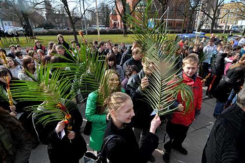 Szczecin: Procesje w Niedzielę Palmową