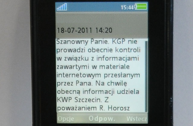 Skandal w policji wodnej: Odpowiedź z Warszawy