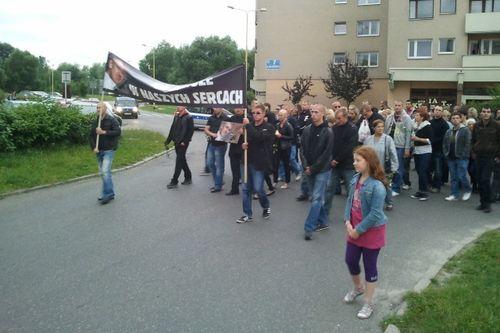 Drugi marsz milczenia na osiedlu majowym