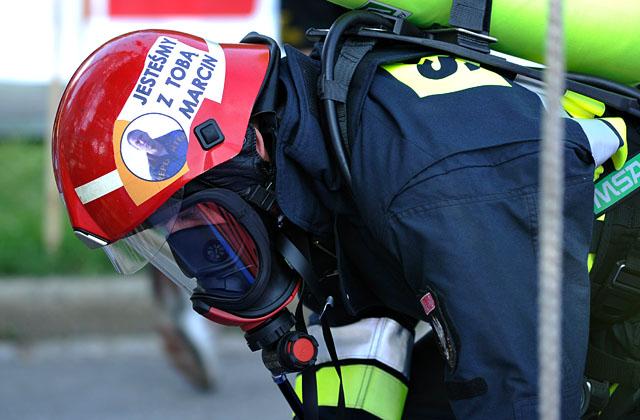Strażacy JRG 5: Marcin jesteśmy z Tobą