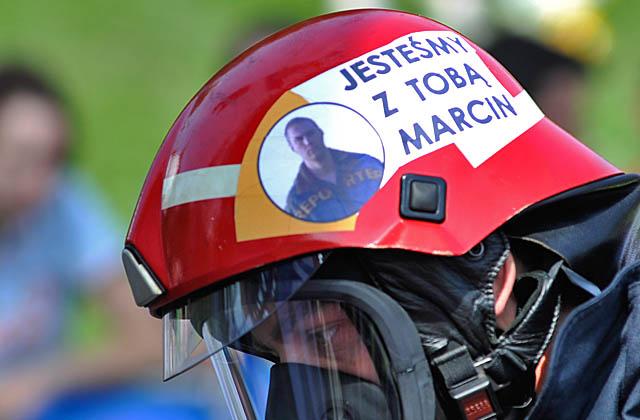 Przyjaciele i strażacy: Marcin jesteśmy z Tobą!