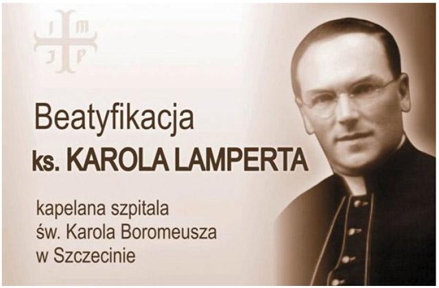 Ks. Karol Lampert, który w czasie wojny pracował w Szczecinie, a w 1944 roku zginął za swoją wiarę dziś zostanie ogłoszony nowym błogosławionym. Fot. www.kuria.pl