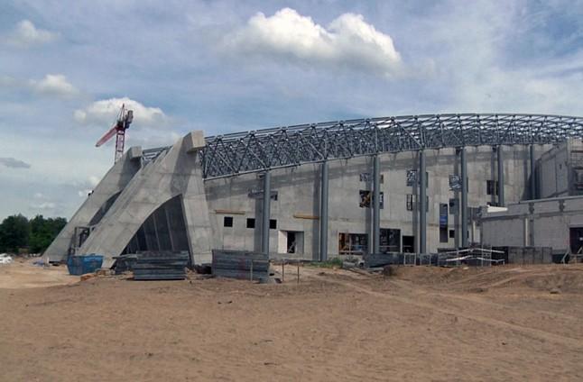 Firma budująca halę zeszła z placu budowy
