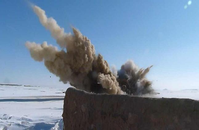 Talibańskie stanowiska ogniowe poszły z dymem [WIDEO, ZDJĘCIA]