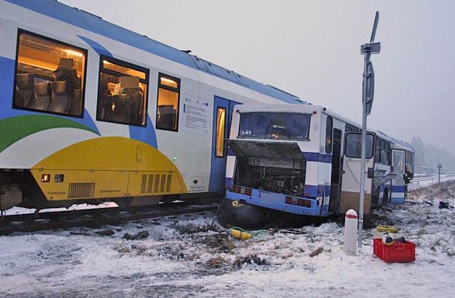Autobus szkolny zderzył się z pociągiem [NOWE]