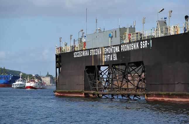 Rekrutacja załogi do powstającej w Szczecinie fabryki podstaw do morskich elektrowni wiatrowych zacznie się pod koniec roku. Fot. Łukasz Szełemej [Radio Szczecin/Archiwum]
