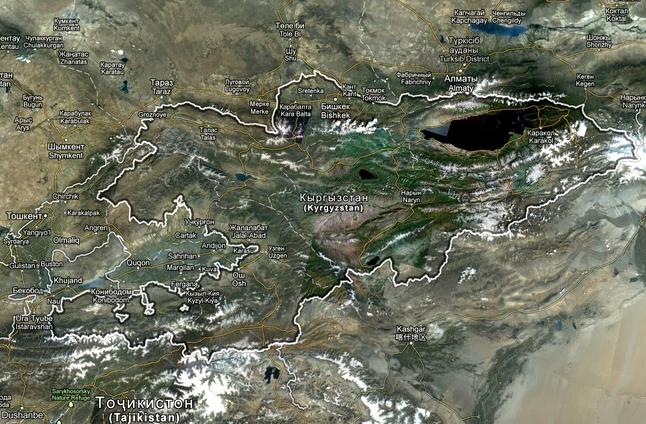 Спутниковая Карта Киргизии