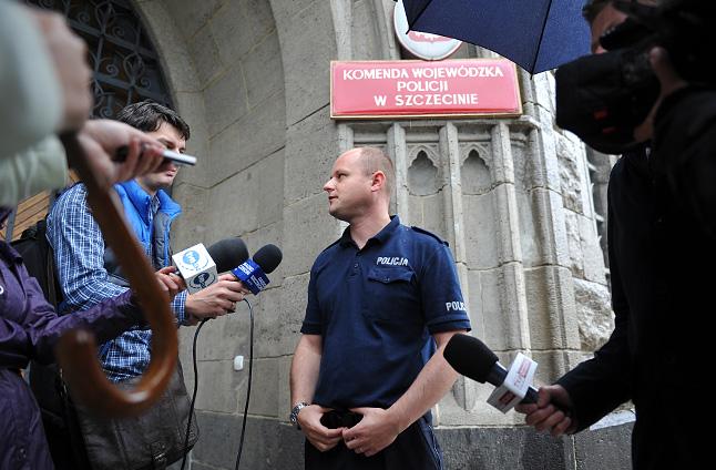 Około południa, po anonimowym zgłoszeniu zapadła decyzja o ewakuacji - tak powiedział mi Przemysław Kimon. Fot. Łukasz Szełemej [Radio Szczecin]