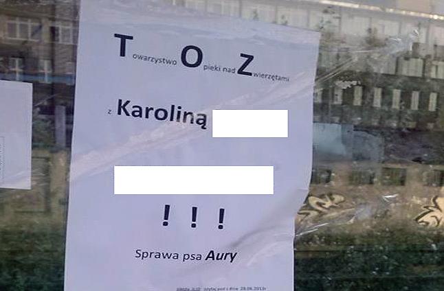 Ktoś wywiesza plakaty obwiniające szczeciński TOZ