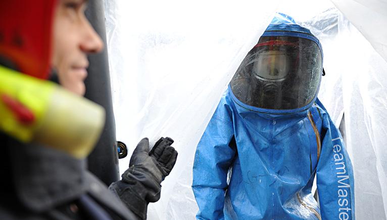 Wyciek amoniaku i ewakuacja około 100 osób ze szczecińskiego browaru. Fot. Łukasz Szełemej [Radio Szczecin]