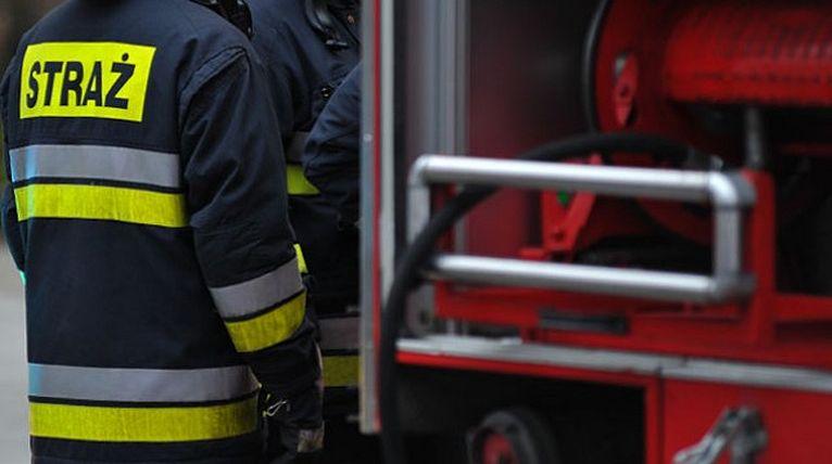 Mężczyzna poszkodowany w pożarze