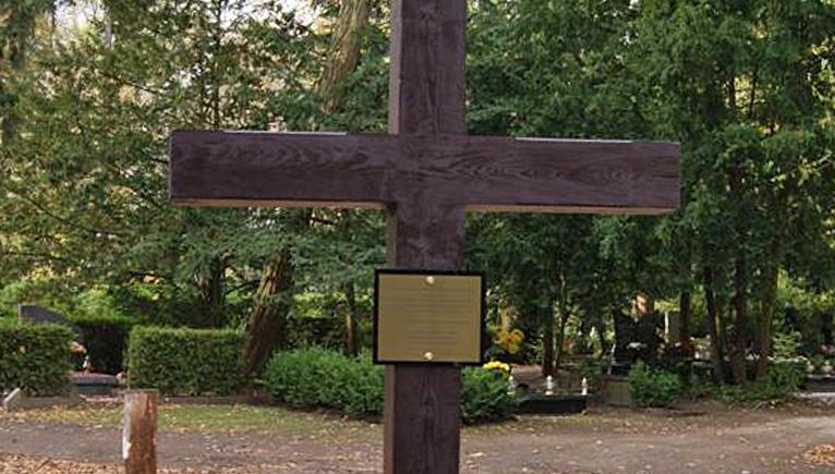 Krzyż upamiętniający ludobójstwo na kresach południowo wschodnich stanął na cmentarzu centralnym w Szczecinie. Fot. mat. IPN