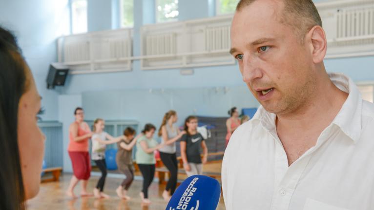 Fot. Jarosław Gaszyński [Radio Szczecin] Niewidomi: Taniec rozwija nasze zmysły [ZDJĘCIA, WIDEO]
