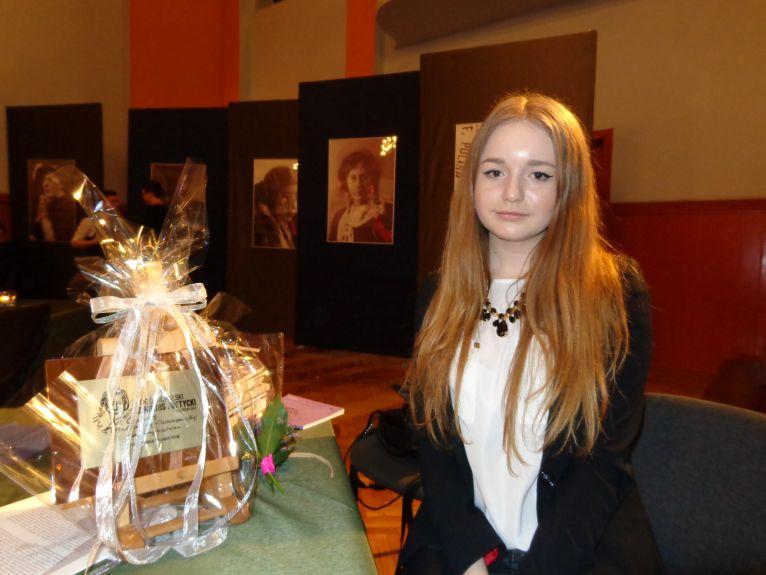 Laureatką szczecińskiego konkursu poetyckiego została Wiktoria Waszczuk. Fot. Małgorzata Frymus [Radio Szczecin]