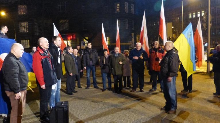 W Szczecinie zamanifestowali poparcie dla demokratycznych zmian na Ukrainie