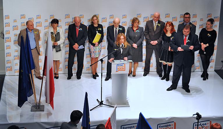 Europa Plus Twój Ruch przedstawiła kandydatów do europarlamentu [ZDJĘCIA, WIDEO]