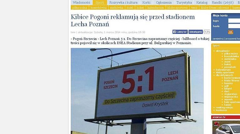 Wieczorek chwali Krystka za billboard po wygranej Pogoni