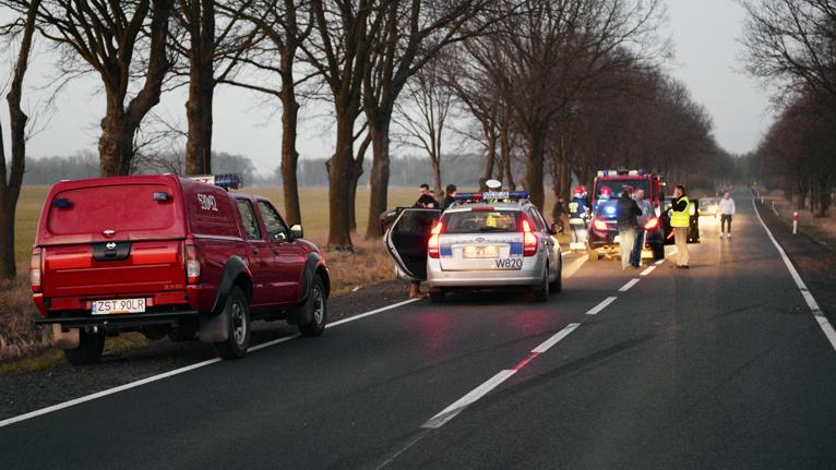 Wypadek pod Stargardem Szczecińskim. Zginęła kobieta
