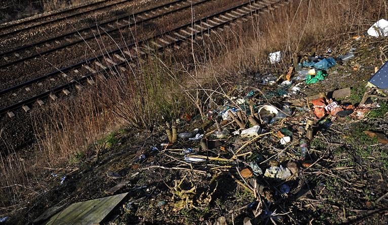 Sterta śmieci zarośnięta chaszczami. Tak witamy podróżnych [ZDJĘCIA]