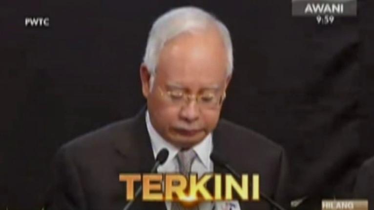 Poszukiwany od ponad dwóch tygodni samolot malezyjskich linii lotniczych spadł do Oceanu Indyjskiego - poinformował o tym w poniedziałek premier Malezji, Najib Tun Razak. Fot. CNN Newsource/x-news