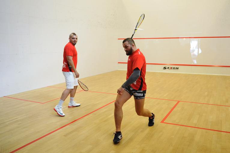 Ukeje i Kolbowicz charytatywnie grają w squasha [ZDJĘCIA, WIDEO]