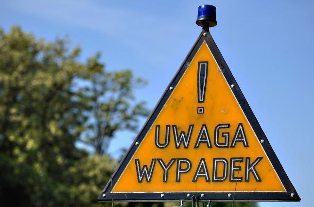 Wypadek koło Lisowa