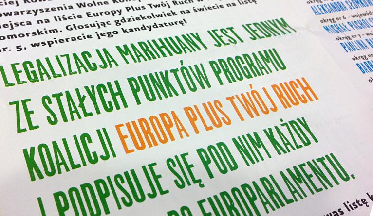 Jak to jest z legalizacją marihuany według koalicji Europa Plus-Twój Ruch?
