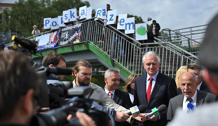 Walkę w europarlamencie o ochronę polskich małych i średnich przedsiębiorstw zapowiada Jarosław Gowin. Fot. Łukasz Szełemej [Radio Szczecin]