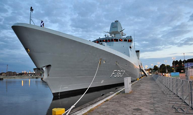 Duński okręt przypłynął do Szczecina