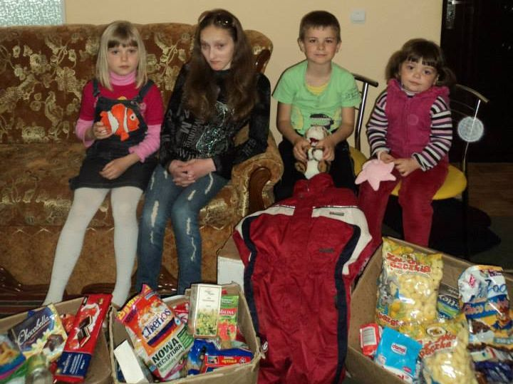 Dzieci z Ukrainy dziękują za paczki ze szczecińskich szkół