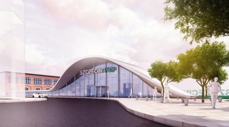 Tak będzie wyglądał szczeciński dworzec po wielkiej przebudowie [WIZUALIZACJE]