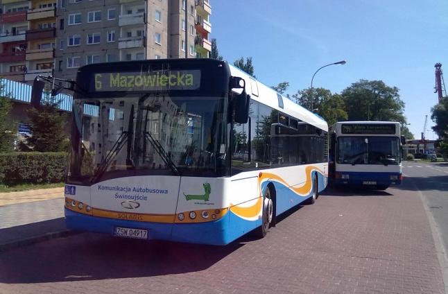 Sieciówki w świnoujskich autobusach