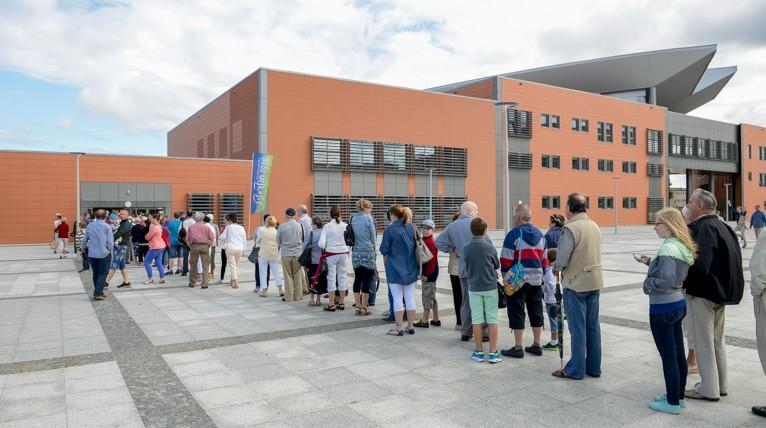 Zwiedzanie nowej hali widowiskowo-sportowej w Szczecinie będzie płatne. Fot. Jarosław Gaszyński [Radio Szczecin]