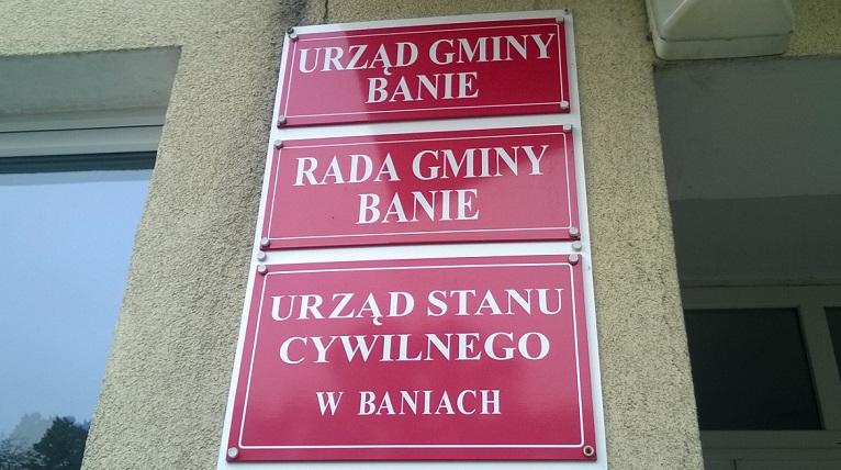 Sprawa odmiany nazwy miejscowości Banie rozwiązana. Winne nadgorliwe ministerstwo