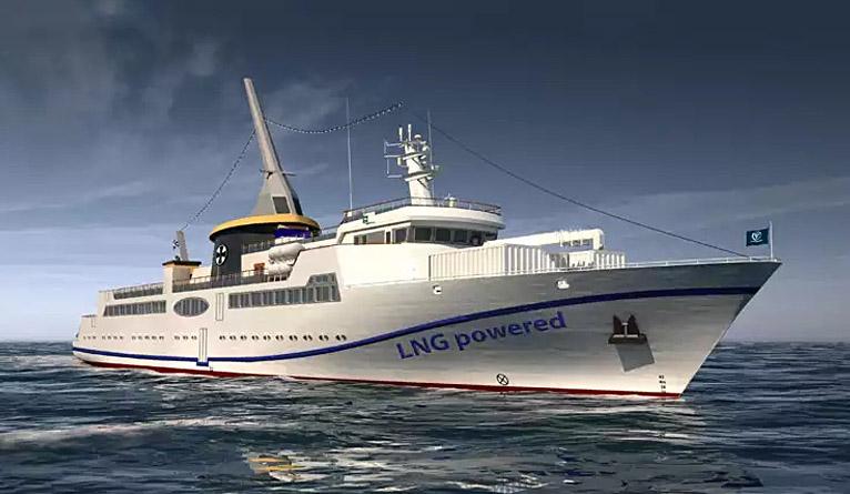 Prom na gaz już na wodzie. To pierwszy taki statek zbudowany w Szczecinie [ZDJĘCIA]