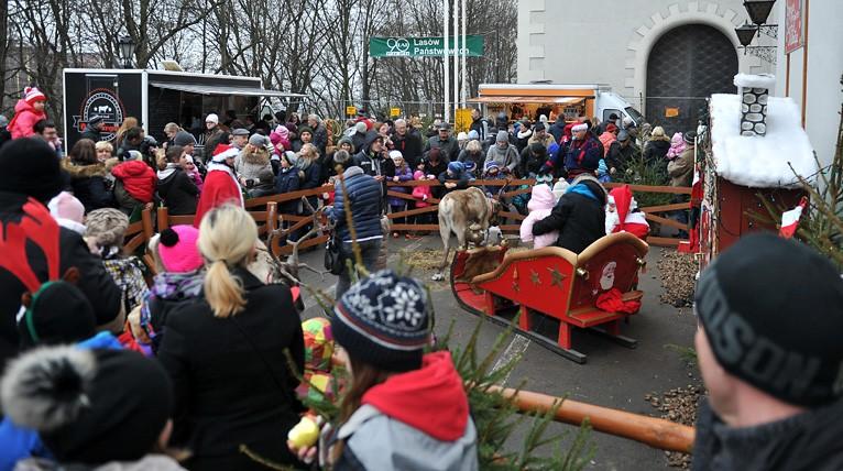 Świąteczny jarmark na Zamku. Jest Mikołaj, jest choinka, są też renifery [ZDJĘCIA]