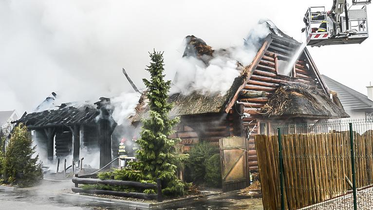 Pożar w Szczecinie. Restauracja spłonęła doszczętnie [WIDEO, ZDJĘCIA]