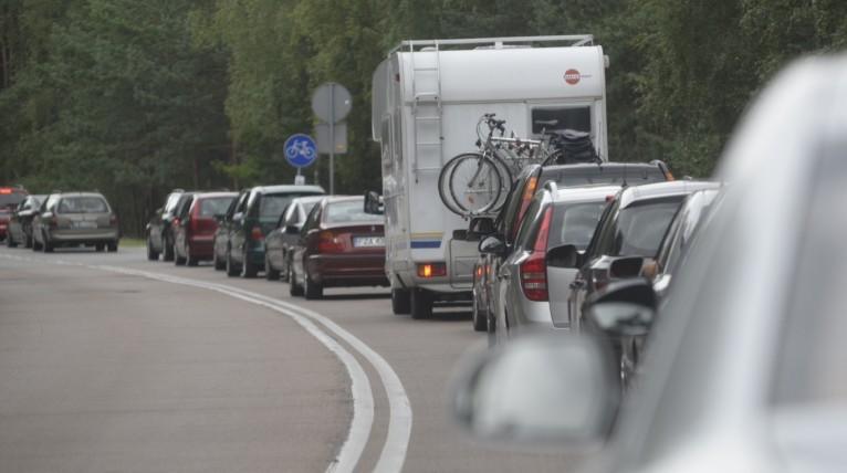 Korki na Trasie Zamkowej i Autostradzie Poznańskiej