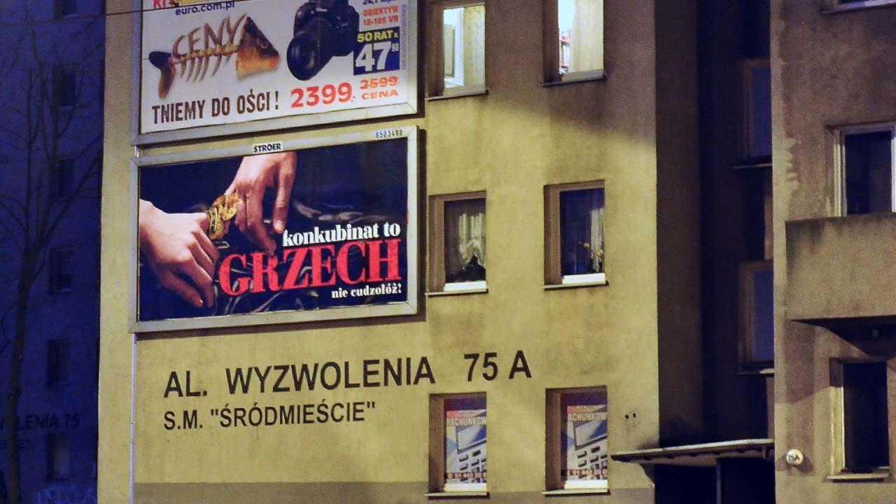 """Kontrowersyjna kampania """"Konkubinat to grzech"""" dotarła do Szczecina"""
