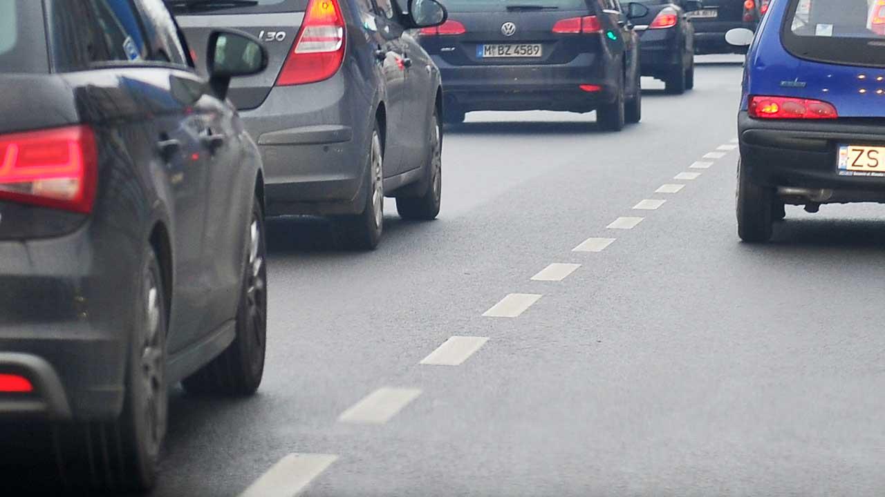 Wypadek i korki w Szczecinie