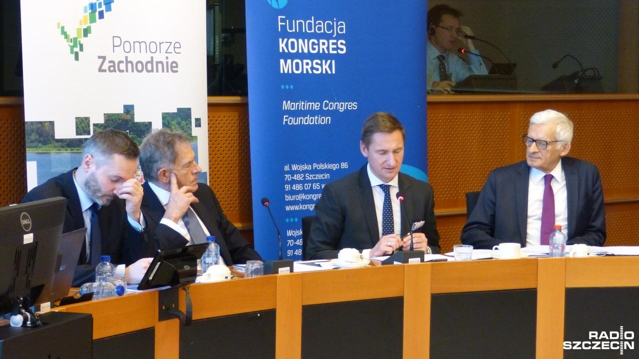 Parlament Europejski w Brukseli podsumowuje szczeciński kongres morski. Fot. Elżbieta Bielecka [Radio Szczecin]