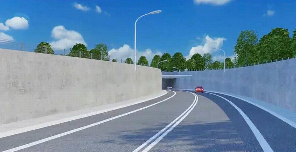 Można przejechać się tunelem pod Świną - na razie tylko wirtualnie, bo do rzeczywistej inwestycji jeszcze daleka droga. Fot. www.youtube.com